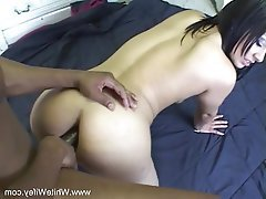 Brunette MILF will Interracial BBC Analsex