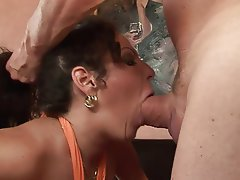 Big Boobs, Big Butts, Blowjob, Brunette, Facial