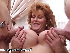 Milf sucks two