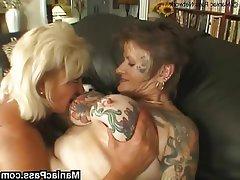 Threesomes tits big lesbian mature