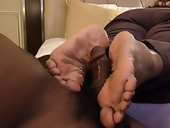 Mature black feet