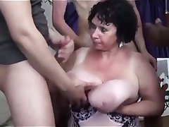 Big tittied mature blowbang