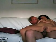 Wife gives handjob to another guy