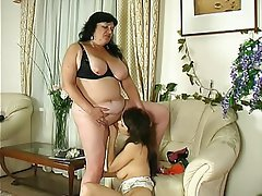 Big Butts, Granny, Lesbian, Old and Young, Strapon
