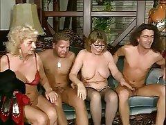 Granny, Pornstar, Stockings, Group Sex