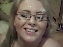 BBW, Big Boobs, Blonde, Blowjob, Facial