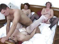 Group Sex, Hardcore, Lingerie, Mature