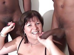 Mature bbc facial