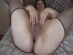 BBW, Big Boobs, Hairy, Mature, Stockings