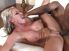 Blonde, Mature, Big Boobs, Interracial