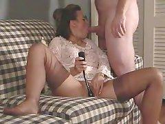 Mature wife blowjob stockings
