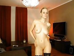 Amateur, Big Boobs, Blonde, Stockings, Webcam