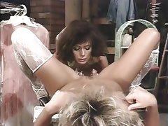 In lingerie stockings lesbians