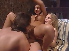Blowjob, Big Boobs, Threesome, Blonde, Brunette
