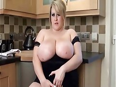 Huge boobs masturbation mature