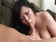 Busty Asian MILF Hanaku Anal Threesome DP