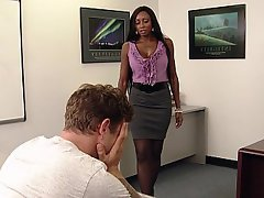 blowjob Black office girl