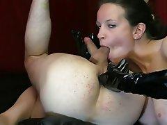 Mature woman fingering ass
