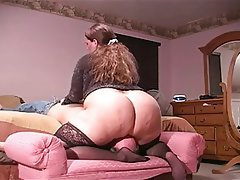 Bbw gets ass licked
