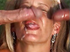 Anal, Blowjob, Facial, Mature, Threesome