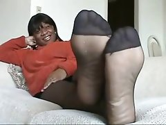 Ebony stocking feet