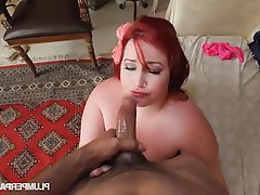 Bbw big boobs redhead
