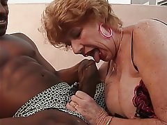 Blowjob, Facial, Interracial, Lingerie