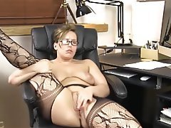 Mature stockings masturbation orgasm