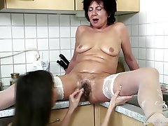 MILF, Granny, Mature, Lesbian, Old and Young